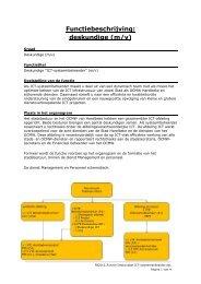 Functiebeschrijving: deskundige (m/v) - Stad Harelbeke