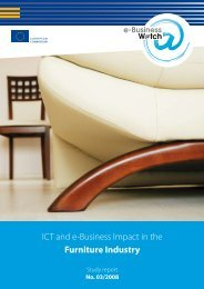 ICT and e-Business Impact in the Furniture Industry - empirica