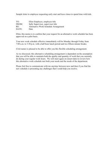 Requesting Time Off Work Letter Sample - Cover Letter Templates