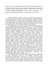 Recenzja rozprawy doktorskiej mgr Katarzyny Wasilewskiej ...