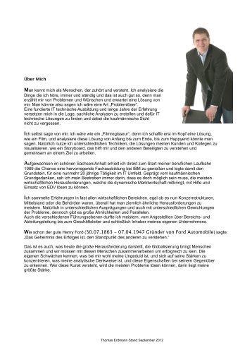 Mein Profil - Home - Thomas Erdmann