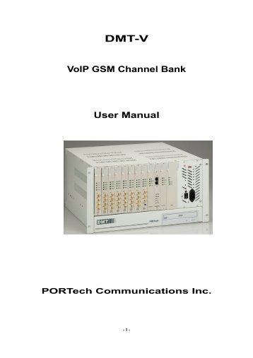 User Manual(6.3MB) - Portech.com.tw