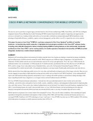 cisco ip/mpls network convergence for mobile operators - The Cisco ...