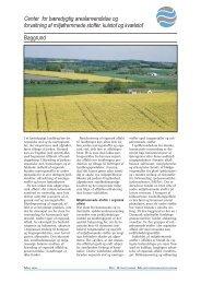 Baggrund Center for bæredygtig arealanvendelse og ... - Info
