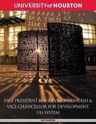 VICE PRESIDENT FOR DEVELOPMENT, UH & VICE ... - Witt/Kieffer