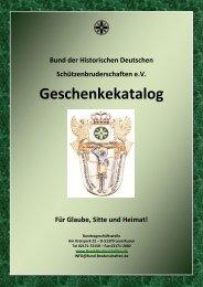 Geschenkekatalog - Bund der Historischen Deutschen ...
