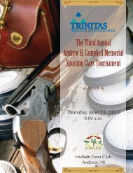 The Third Annual Andrew H. Campbell Memorial ... - Trinitas Hospital