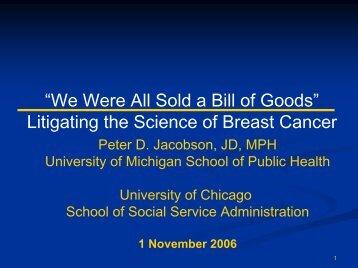 Presentation Slides - School of Social Service Administration