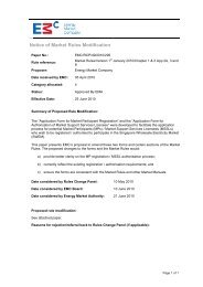 Application form for Market Participant Registration - EMC