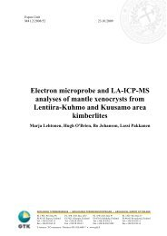 Electron microprobe and LA-ICP-MS analyses of ... - Arkisto.gsf.fi
