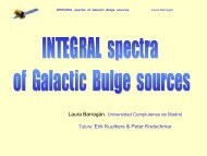 INTEGRAL spectra of Galactic Bulge sources - ESAC Trainee Project
