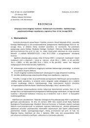 Recenzja prof. dr hab. inż. Józef Dubiński - Wydział Geologii ...