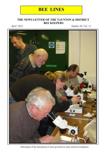April 2013 - Somerset Beekeepers Association