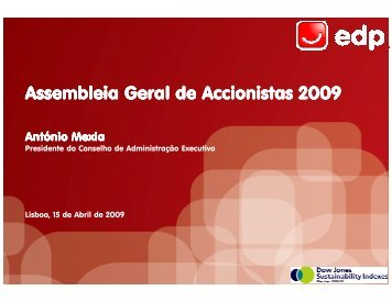 Assembleia Geral de Accionistas 2009 - EDP