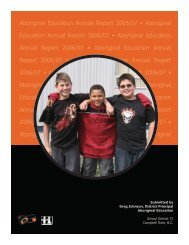 2006-2007 SD72 Aboriginal Education Annual Report