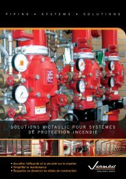 Plus de 80 ans de solutions pour systèmes de tuyauteries - Victaulic