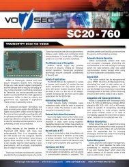 TRANSCRYPT SC20-760 VOSEC - EFJohnson