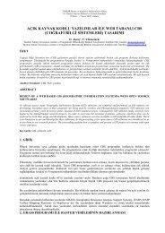 açık kaynak kodlu yazılımlar ile web tabanlı cbs - Harita ve Kadastro ...
