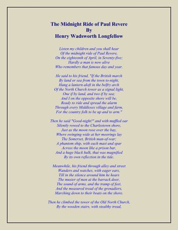 longfellow essay The most widely known and best-loved american poet of his lifetime, henry wadsworth longfellow achieved a level of national and international prominence previously unequaled in the literary history of the united states.