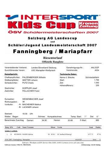 Riesentorlauf - Wintersportverein St. Johann im Pongau