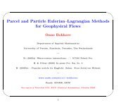 Parcel and Particle Eulerian–Lagrangian Methods for Geophysical ...