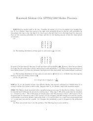 Homework Solution 4 for APPM4/5560 Markov Processes - cribME!