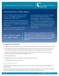 Preventing Falls in Older Adults - US Preventive Services Task Force