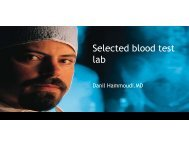 Selected blood test l ba - Sinoe medical homepage.