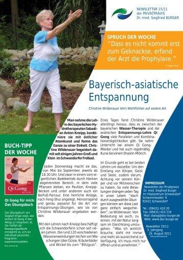 Bayerisch-asiatische Entspannung - Privatpraxis Dr. Siegfried Burger