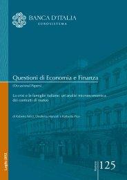 La crisi e le famiglie italiane - Banca d'Italia