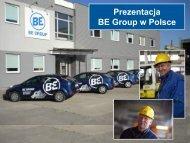 Obecność BE Group w Polsce