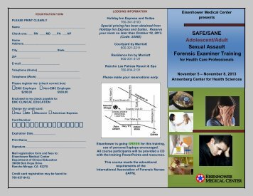 Download Brochure - Eisenhower Medical Center