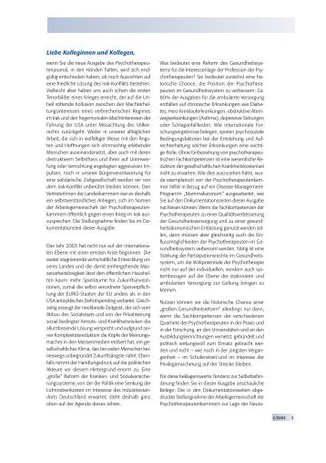 Psychotherapeutenjournal 1/2003 (.pdf)