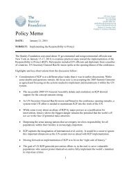 Policy Memo - The Stanley Foundation