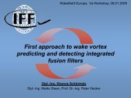 First approach to wake vortex prediction and detection ... - Wakenet