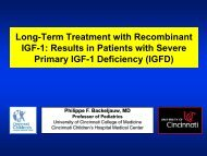 Long-term treatment with recombinant IGF-1