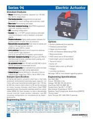 Series 94 Electric Actuator - Kube Engineering