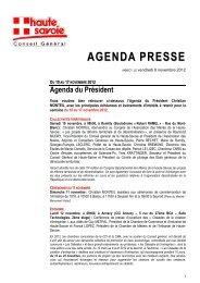 AGENDA PRESSE - Conseil Général de Haute-Savoie