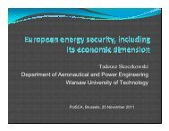 Tadeusz Skoczkowski Department of Aeronautical and ... - PolSCA