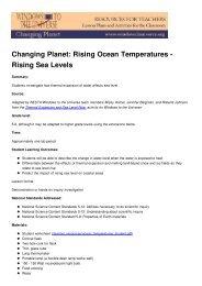Rising Ocean Temperatures - Rising Sea Levels - Windows to the ...