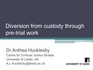 Diversion from custody through pre-trial work