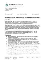 preimplantasjonsdiagnostikk, del I og II - Bioteknologinemnda