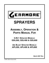 SPRAYERS - Gearmore, Inc.