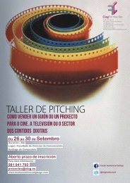 TALLER DE PITCHING - Cluster Audiovisual Galego