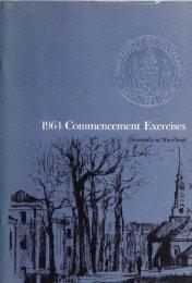 University of Maryland : Commencement Exercises, 1964
