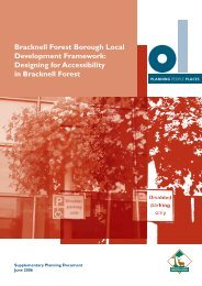 Design for Accessibility In Bracknell Forest - Bracknell Forest Council