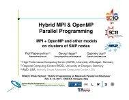 Hybrid MPI & OpenMP Parallel Programming - HLRS