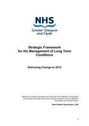 Strategic Framework for the Management of Long Term Conditions