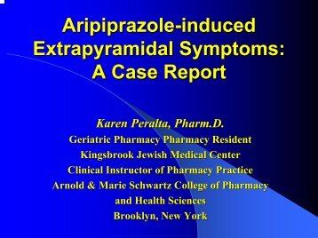 Aripiprazole-induced Extrapyramidal Symptoms: A Case Report