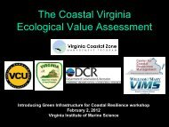Jason Bulluck - Virginia Institute of Marine Science
